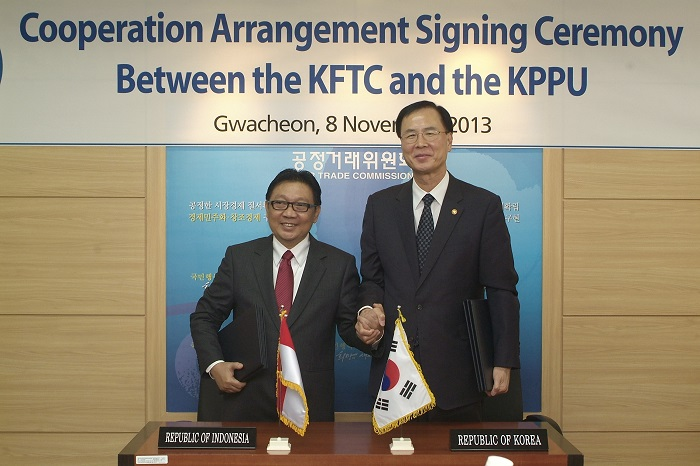 Cooperation Arrangement Signing Ceremony between the KFTC and the KPPU